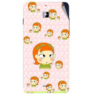 Snooky 46899 Digital Print Mobile Skin Sticker For Micromax Canvas Nitro A310 - Orange