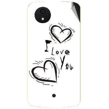 Snooky 47013 Digital Print Mobile Skin Sticker For Micromax Android One - White