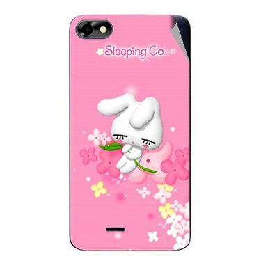 Snooky 47033 Digital Print Mobile Skin Sticker For Micromax Bolt D321 - Pink