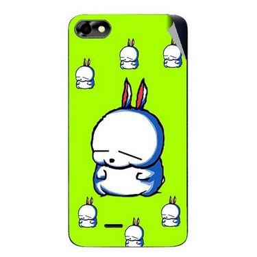 Snooky 47038 Digital Print Mobile Skin Sticker For Micromax Bolt D321 - Green