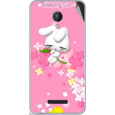 Snooky 47065 Digital Print Mobile Skin Sticker For Micromax Canvas Spark Q380 - Pink
