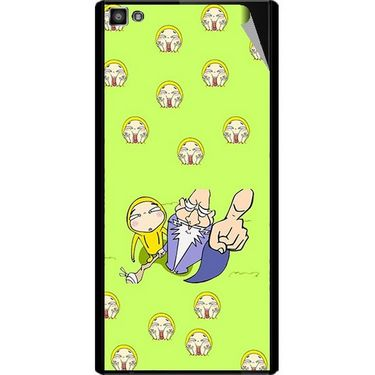 Snooky 47121 Digital Print Mobile Skin Sticker For Xolo Hive 8X-1000 - Green