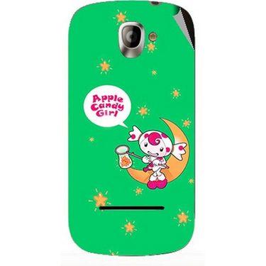 Snooky 47127 Digital Print Mobile Skin Sticker For Xolo A500 - Green