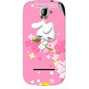 Snooky 47128 Digital Print Mobile Skin Sticker For Xolo A500 - Pink