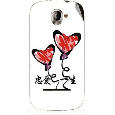 Snooky 47141 Digital Print Mobile Skin Sticker For Xolo A500 - White