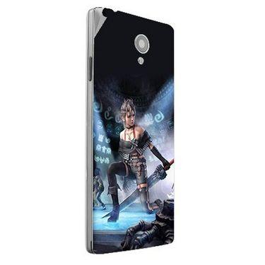 Snooky 47164 Digital Print Mobile Skin Sticker For Xolo A500 Club - Blue