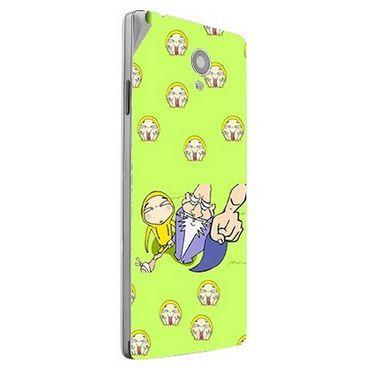 Snooky 47185 Digital Print Mobile Skin Sticker For Xolo A500 Club - Green