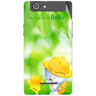 Snooky 47193 Digital Print Mobile Skin Sticker For Xolo A500s - Green