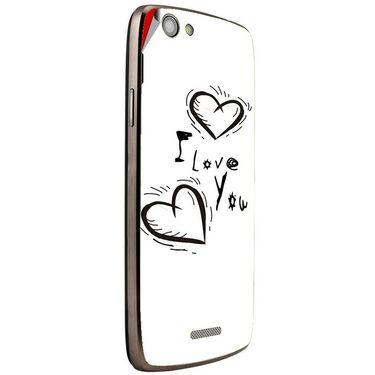 Snooky 47268 Digital Print Mobile Skin Sticker For Xolo A510S - White