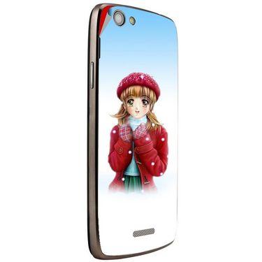Snooky 47275 Digital Print Mobile Skin Sticker For Xolo A510S - White