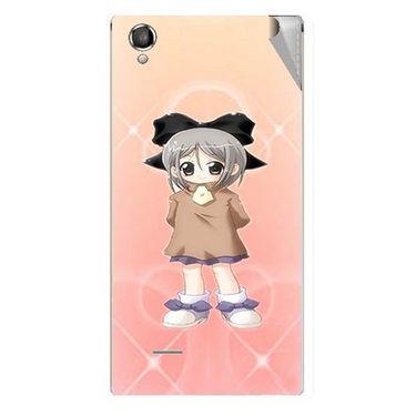 Snooky 47303 Digital Print Mobile Skin Sticker For Xolo A550S IPS - Orange
