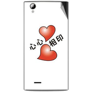 Snooky 47331 Digital Print Mobile Skin Sticker For Xolo A600 - White