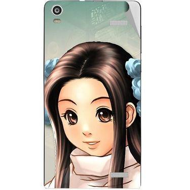 Snooky 47350 Digital Print Mobile Skin Sticker For Xolo A1000S - Multicolour