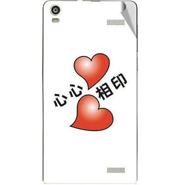 Snooky 47363 Digital Print Mobile Skin Sticker For Xolo A1000S - White