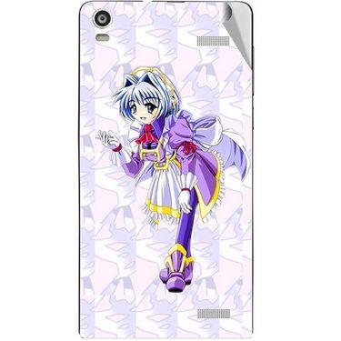 Snooky 47370 Digital Print Mobile Skin Sticker For Xolo A1000S - Purple