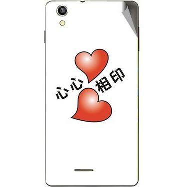 Snooky 47395 Digital Print Mobile Skin Sticker For Xolo A1010 - White