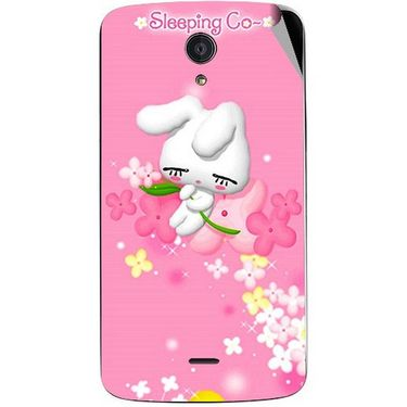 Snooky 47416 Digital Print Mobile Skin Sticker For Xolo Omega 5.0 - Pink