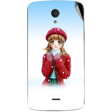 Snooky 47435 Digital Print Mobile Skin Sticker For Xolo Omega 5.0 - White
