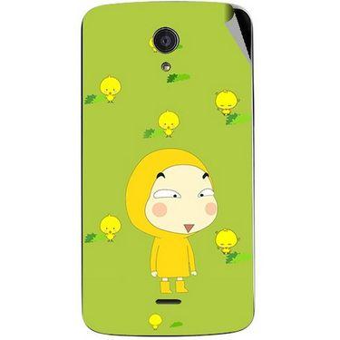 Snooky 47444 Digital Print Mobile Skin Sticker For Xolo Omega 5.5 - Green