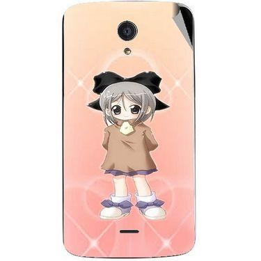 Snooky 47463 Digital Print Mobile Skin Sticker For Xolo Omega 5.5 - Orange