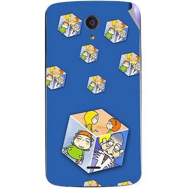 Snooky 47471 Digital Print Mobile Skin Sticker For Xolo Omega 5.5 - Blue
