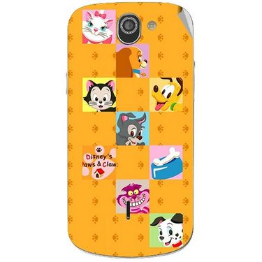 Snooky 47519 Digital Print Mobile Skin Sticker For Xolo Q600 - Yellow
