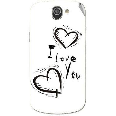 Snooky 47524 Digital Print Mobile Skin Sticker For Xolo Q600 - White