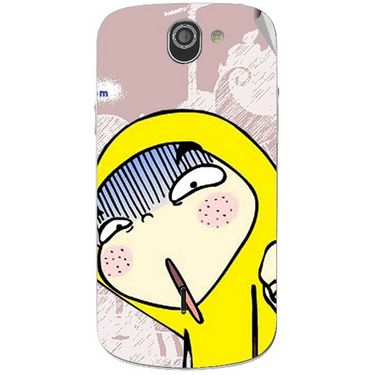 Snooky 47536 Digital Print Mobile Skin Sticker For Xolo Q600 - Multicolour