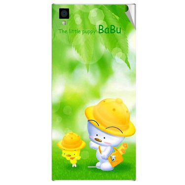 Snooky 47545 Digital Print Mobile Skin Sticker For Xolo Q600s - Green