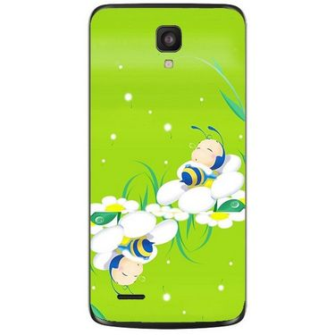Snooky 47610 Digital Print Mobile Skin Sticker For Xolo Q700 - Green