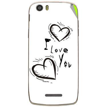 Snooky 47652 Digital Print Mobile Skin Sticker For Xolo Q700s - White