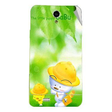 Snooky 47705 Digital Print Mobile Skin Sticker For Xolo Q900 - Green