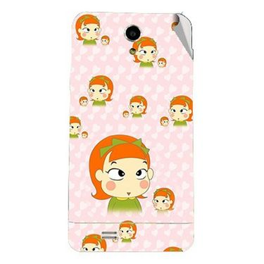 Snooky 47730 Digital Print Mobile Skin Sticker For Xolo Q900 - Orange