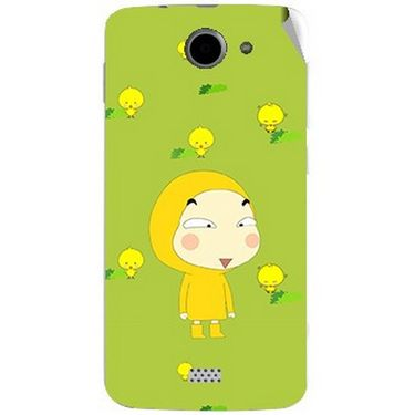 Snooky 47764 Digital Print Mobile Skin Sticker For Xolo Q1000 - Green