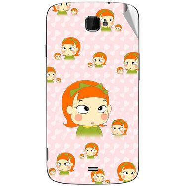 Snooky 47826 Digital Print Mobile Skin Sticker For Xolo Q1000 Opus - Orange