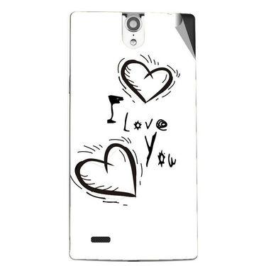 Snooky 47844 Digital Print Mobile Skin Sticker For Xolo Q1010i - White