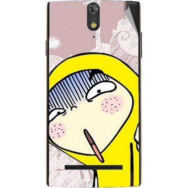 Snooky 47888 Digital Print Mobile Skin Sticker For Xolo Q1020 - Multicolour