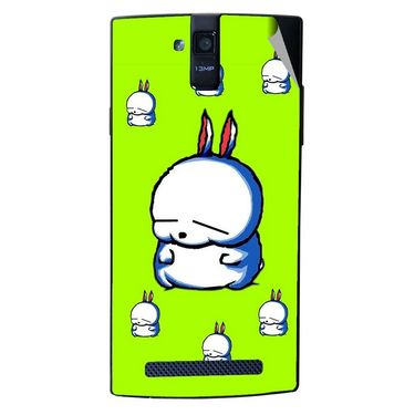 Snooky 47901 Digital Print Mobile Skin Sticker For Xolo Q2000 - Green