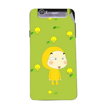 Snooky 47956 Digital Print Mobile Skin Sticker For Xolo Q3000 - Green