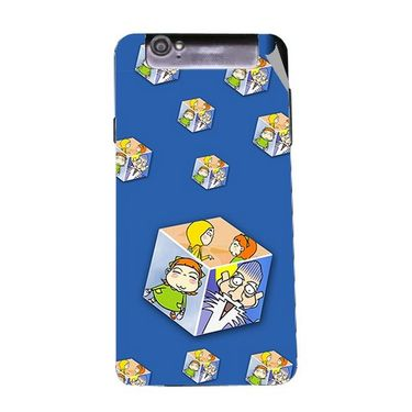 Snooky 47983 Digital Print Mobile Skin Sticker For Xolo Q3000 - Blue