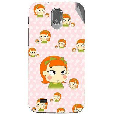 Snooky 48018 Digital Print Mobile Skin Sticker For Xolo Play T1000 - Orange