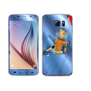 Snooky 48218 Digital Print Mobile Skin Sticker For Samsung Galaxy S6 - Blue