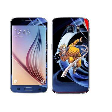 Snooky 48221 Digital Print Mobile Skin Sticker For Samsung Galaxy S6 - Blue