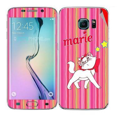 Snooky 48255 Digital Print Mobile Skin Sticker For Samsung Galaxy S6 Edge - Pink