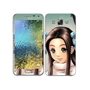 Snooky 48277 Digital Print Mobile Skin Sticker For Samsung Galaxy E7 - Multicolour
