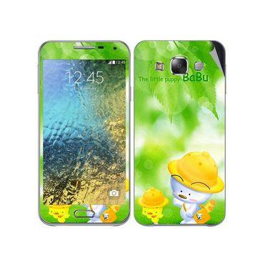 Snooky 48280 Digital Print Mobile Skin Sticker For Samsung Galaxy E7 - Green