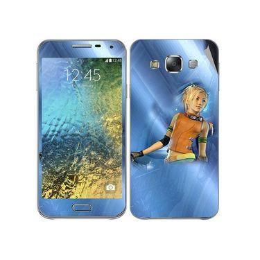 Snooky 48282 Digital Print Mobile Skin Sticker For Samsung Galaxy E7 - Blue