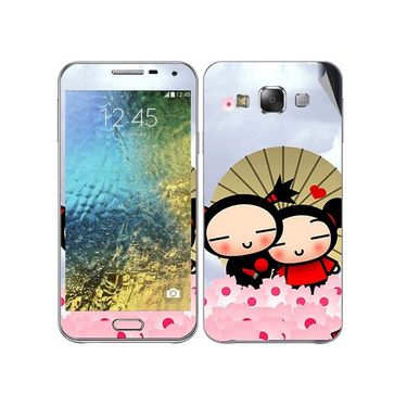 Snooky 48306 Digital Print Mobile Skin Sticker For Samsung Galaxy E7 - Multicolour