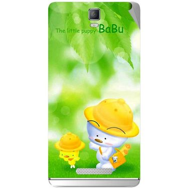 Snooky 48344 Digital Print Mobile Skin Sticker For Lava Iris Fuel 50 - Green