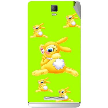 Snooky 48353 Digital Print Mobile Skin Sticker For Lava Iris Fuel 50 - Green